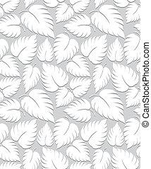 seamless, hojas, plano de fondo, diseño