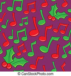 Seamless Holiday Music Pattern