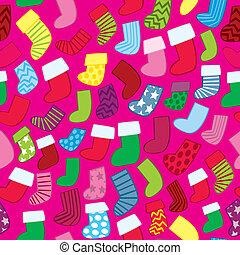 Seamless Holiday Stockings