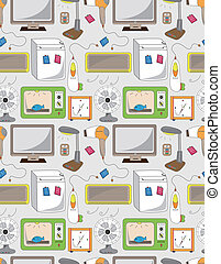seamless home appliance pattern