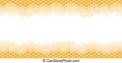 seamless honey comb background - seamless natural orange...
