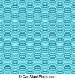 Seamless Honeycomb. Hexagon Background Pattern. Vector