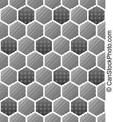 Seamless honeycomb pattern.