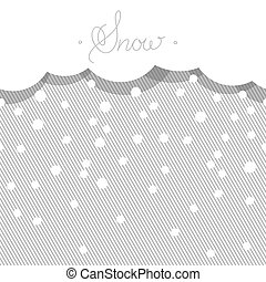 Seamless horizontal background with stylized snow.