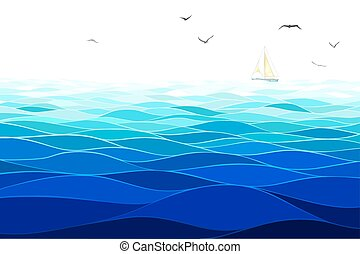 Seamless horizontal sea background