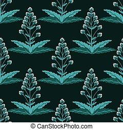 Seamless horseradish decorative vector pattern