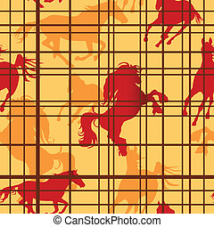 Seamless horses