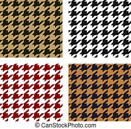 seamless, houndstooth, muster