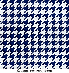 Seamless houndstooth pattern in blue.