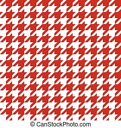 Seamless houndstooth pattern in red.