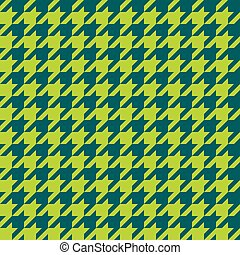 Seamless houndstooth pattern. Vector image. - Seamless teak...