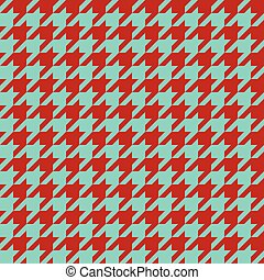 Seamless houndstooth pattern. Vector image.