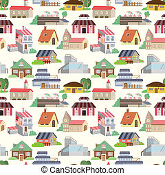 seamless house pattern  - seamless house pattern