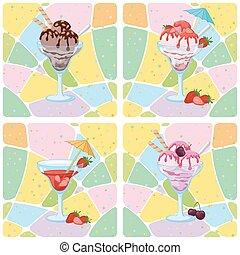 Seamless, Ice Cream and Berries
