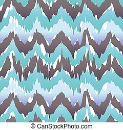 Seamless Ikat Chevron Background Pattern blue vector cool freshly