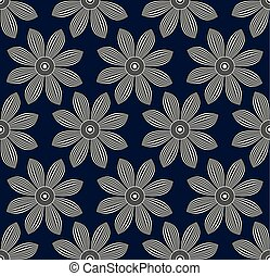 Seamless illusive floral pattern