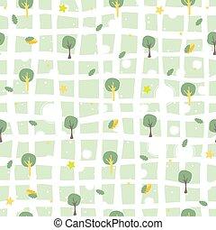 seamless, illustratie, ster, stars., night., vector, model, bomen
