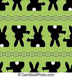 seamless illustration - Easter bunny background