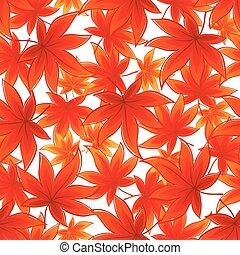 seamless, illustration, leaves., automne, vecteur, fond