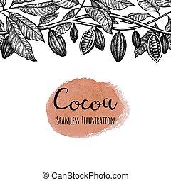 Seamless illustration of cocoa.