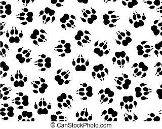 wildcat foils - seamless illustration of wildcat foils over...