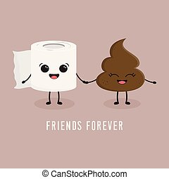 toilet paper and poop