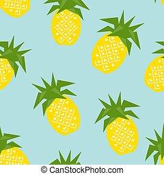 seamless, illustrazione, vettore, modello, ananas, geometrico