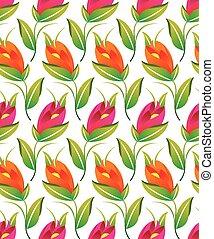 seamless, imaginación, patrón floral