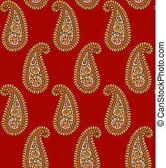 seamless Indian paisley pattern