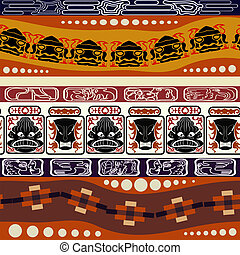 Seamless Indian pattern with masks