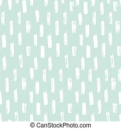 Seamless ink brush painted pattern with blue and white...