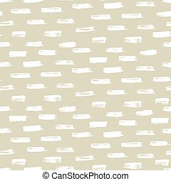 Seamless ink brush painted pattern with beige and white elements.