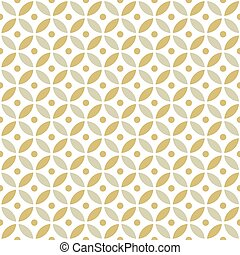 Seamless Intersecting Geometric Vintage Gold Circle Pattern