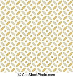 Seamless Intersecting Geometric Vintage Gold Circle Pattern