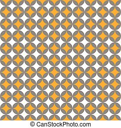 Seamless Intersecting Geometric Vintage Pattern