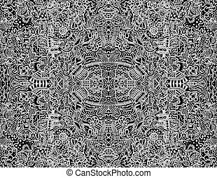 Seamless Intricate Abstract Vector Design Illustration - A...