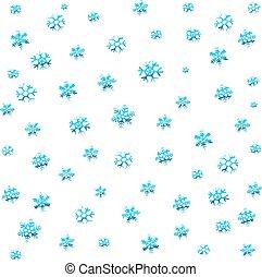 seamless, inverno, fondo, con, blu, fiocchi neve
