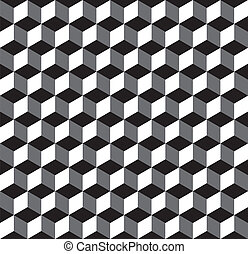 Seamless Inverted Cube Pattern - Seamless Vector Editable...
