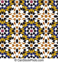 seamless islamic geometric pattern