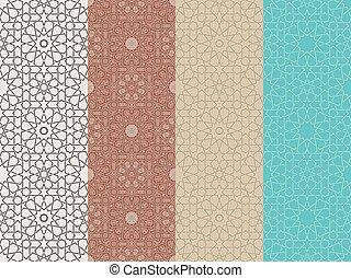 Seamless islamic Moroccan pattern. Arabic geometric ornament...