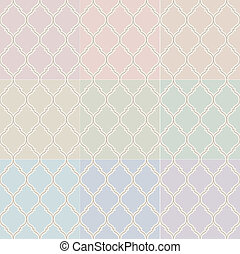 seamless islamic pastel pattern