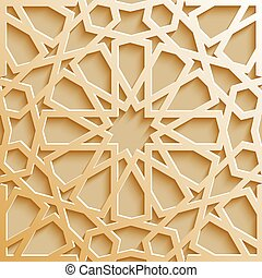 Seamless islamic pattern 3d . Traditional Arabic design...