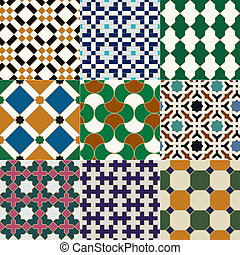 seamless islamic tile pattern