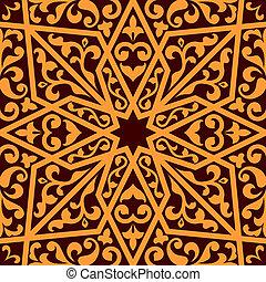 seamless, islamique, arabe, ou, modèle