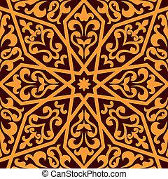 seamless, islamitisch, arabische , of, model