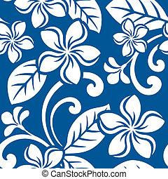 Seamless Island Plumeria Pattern