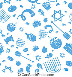 Seamless Israeli Holiday Pattern