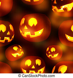 Seamless Jack-o'-lanterns pumpkin texture pattern as a...