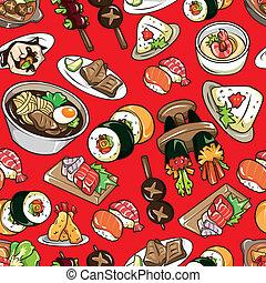seamless Japanese food pattern