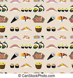 seamless Japanese food pattern